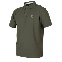 Тениска с яка Fox Collection Green Silver Polo Shirt