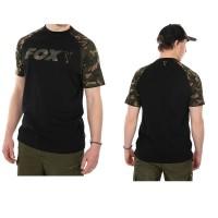 Тениска Fox Raglan T-Shirt Black & Camo