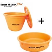 Genlog Bucket With a Lid Orange - Кофа за захранка и Легенче