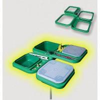 AN Plast Комплект за стръв 4 кутии + поставка