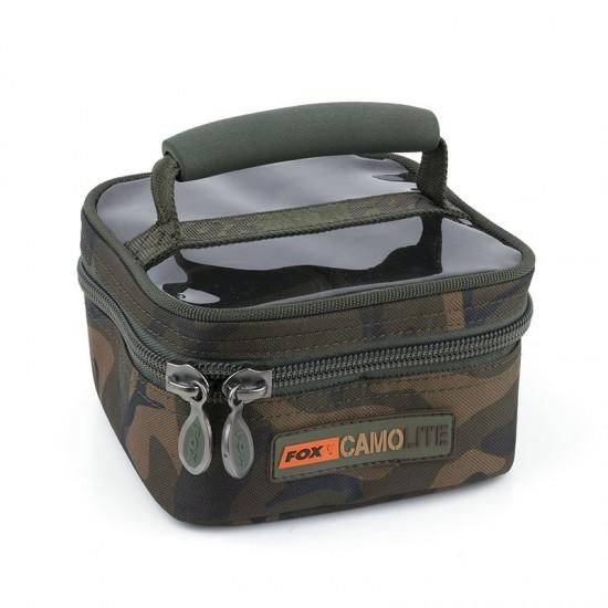 Рибарска чанта с бурканчета за стръв Fox Camolite Glug 6 and 8 pot case