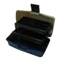 Куфарче 2 нива голямо синьо овал BOX-M2P