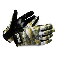Rapala Stretch Grip Glove - Fish Print - Rubberized Palm
