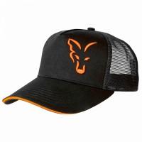 Шапка с козирка FOX Black & Orange Trucker Cap
