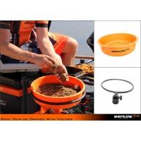 Genlog Bowl Orange With holder - Легенче за захранка + прикачно