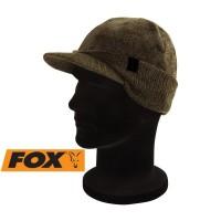 Зимна шапка FOX Khaki/Black Peaked Beanie