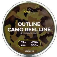 Влакно за дънен риболов Avid Carp Outline Camo Reel